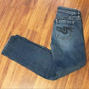 White House Black Market denim skinny ankle jeans